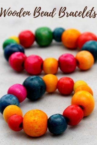 Wooden Bead Bracelet Kids Craft Gift Idea