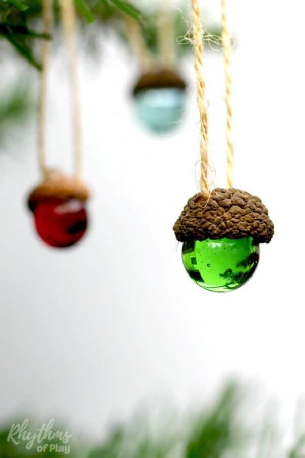 Acorn marble DIY Christmas Ornaments