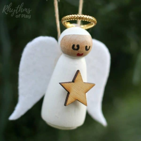 This DIY Angel Ornament is a beautiful homemade Christmas craft idea. An easy handmade holiday