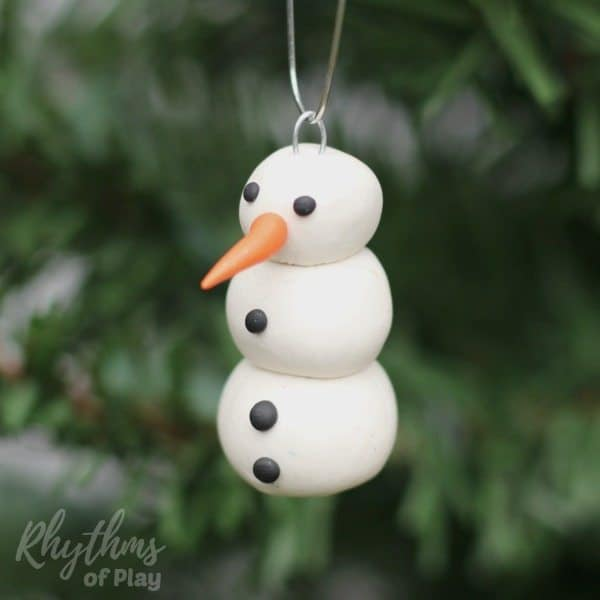 Polymer Clay Christmas Ornament: DIY Polymer Clay Snowman Ornament
