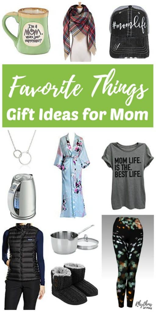 This gift list is FULL of my favorite things that make great gift ideas for mom! These are some of the best things you can find to give mothers for Christmas, Mother's Day, and her birthday. It contains mom staples and must haves. You will find homemade DIY gifts, sentimental keepsakes, personalized jewelry, cute and comfy gifts to pamper moms and unique gift ideas for the mom that has everything!