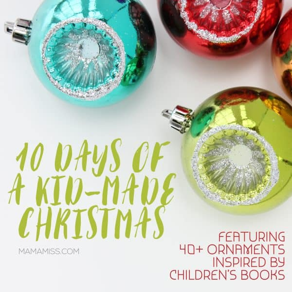 Kid-made Christmas ornaments inspired by books
