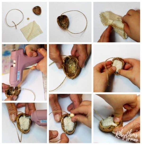 walnut-manger-christmas-ornament-glue