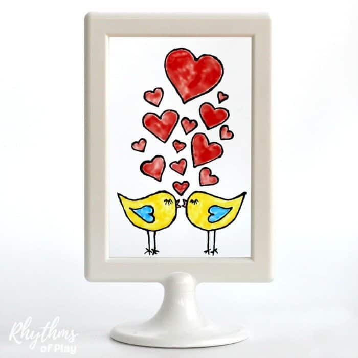 love birds craft and gift idea