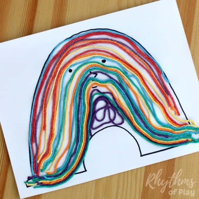 Rainbow Yarn Art Book Activity sq1