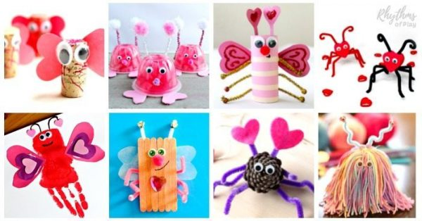 love bug Valentine's Day crafts for kids
