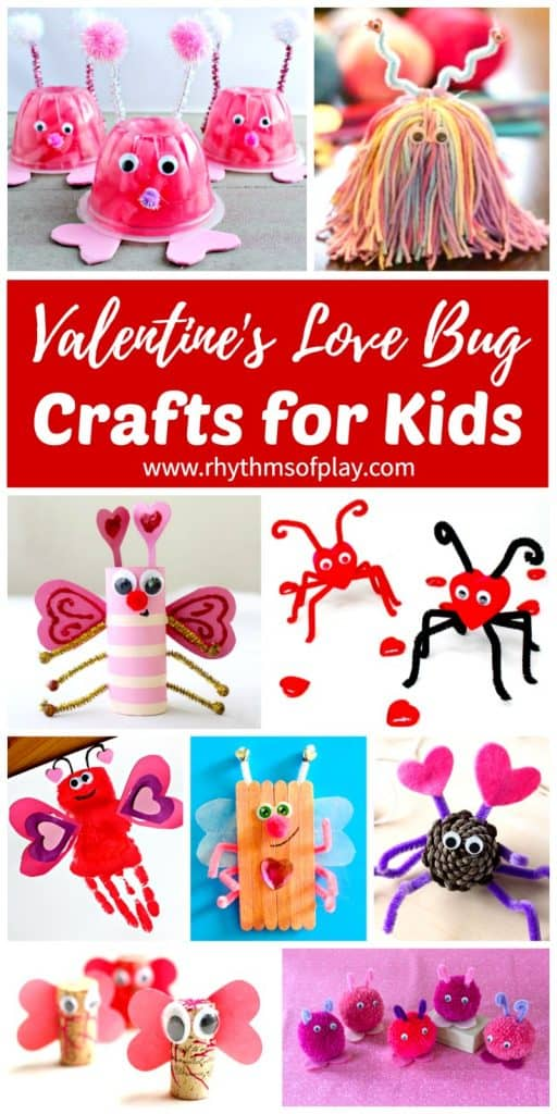 Nice Valentines Craft Ideas For Kids Part - 9: Cute Collection Of Valentine Love Bug Craft Ideas For Kids.