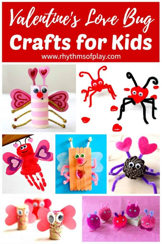 valentine crafts for kids valentines bug crafts for rhythms of play 30824