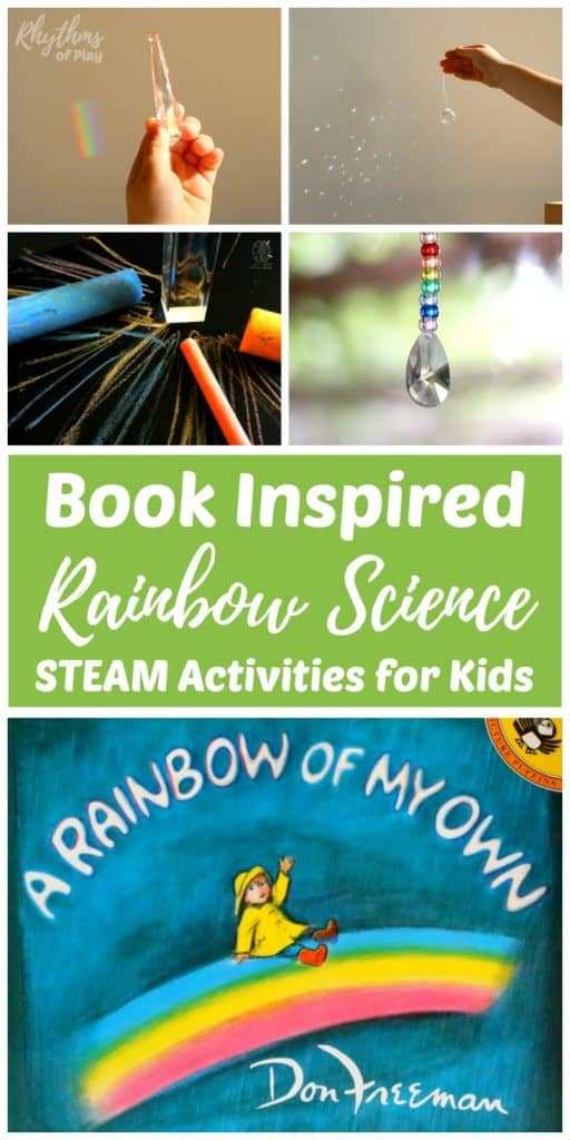 Book inspired rainbow science for kids