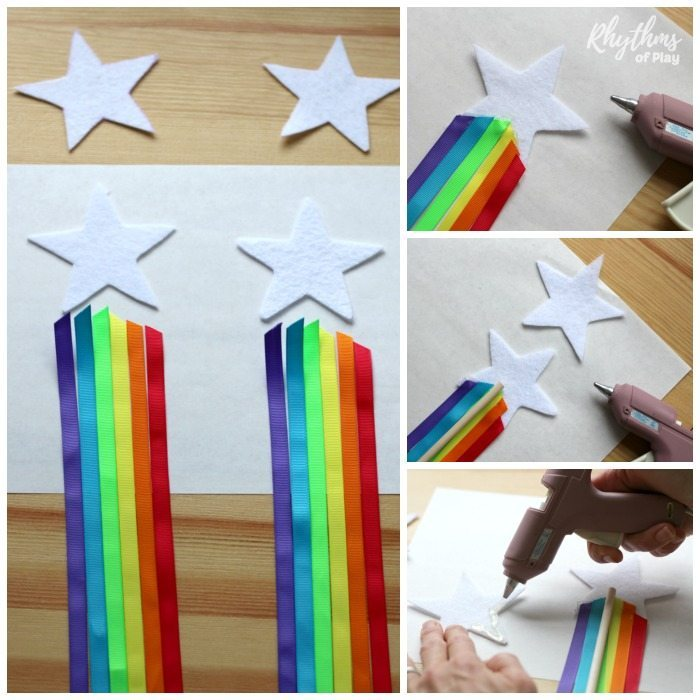 How to make DIY Rainbow Ribbon Fairy Wands for Kids