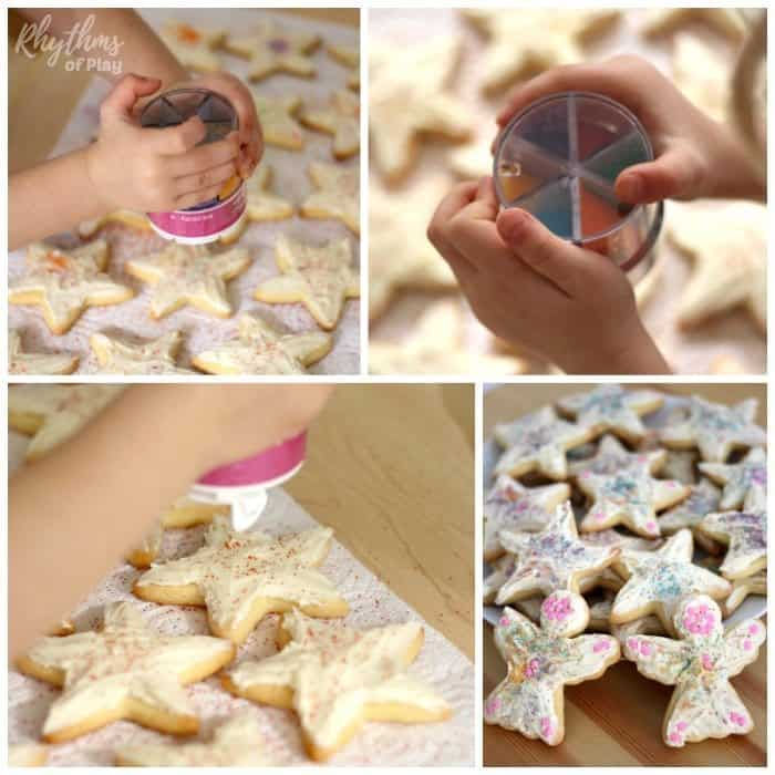 Decorate Rainbow Sprinkle Star Kindness Cookies sq