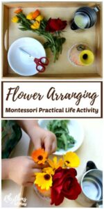 Flower Arranging Montessori Practical Life Activity for Kids