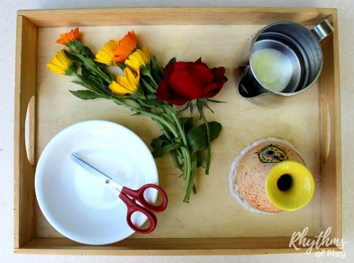 How To Set Up Montessori Flower Arranging Tray