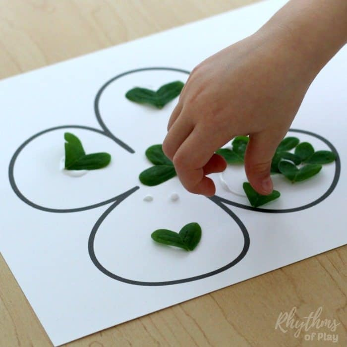 four-leaf clover nature craft