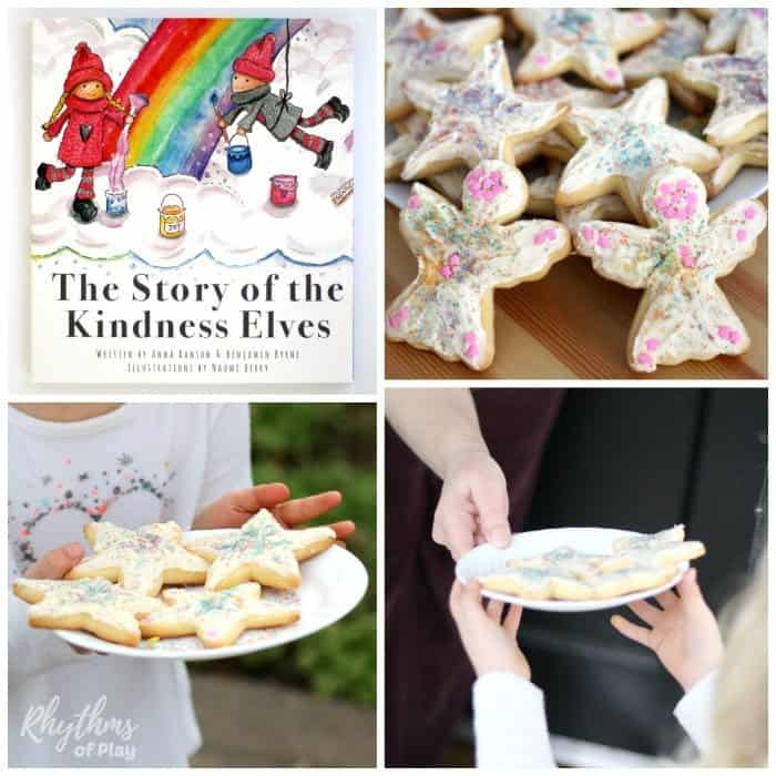 Pass out rainbow sprinkle star cake kindness sugar cookies sq