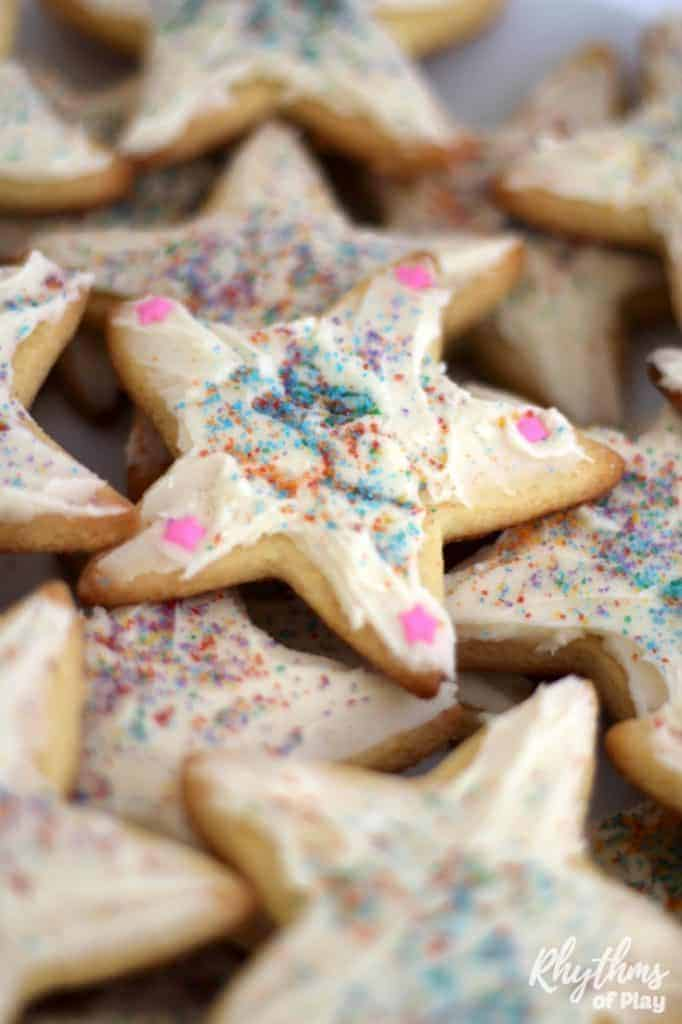 Rainbow Sprinkle Star Kindness Sugar Cookies Book Activity for Kids