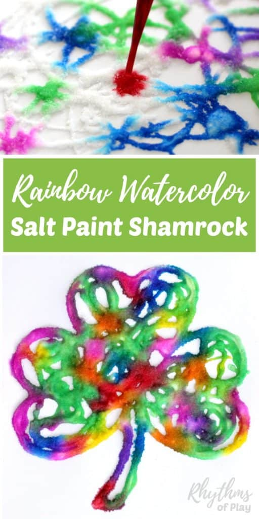 Rainbow Shamrock Salt Painting Art Project Rhythms Of Play