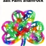 Rainbow Watercolor Raised Salt Paint Shamrock