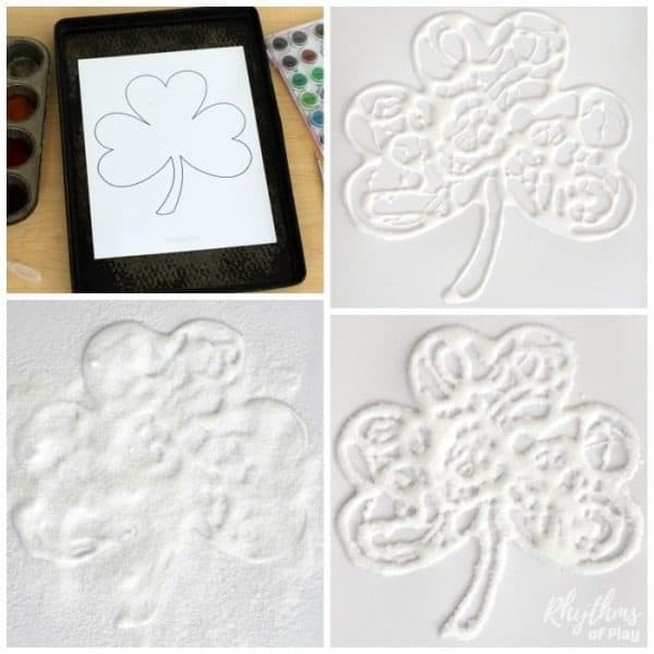 How to make salt painting shamrock art