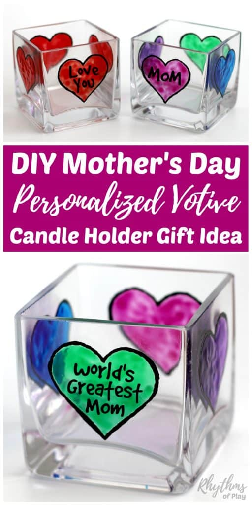 Diy Mother S Day Personalized Votive Candle Holder Gift Idea