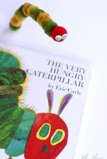 DIY Very Hungry Caterpillar Puppet for Pretend Play Kids Make