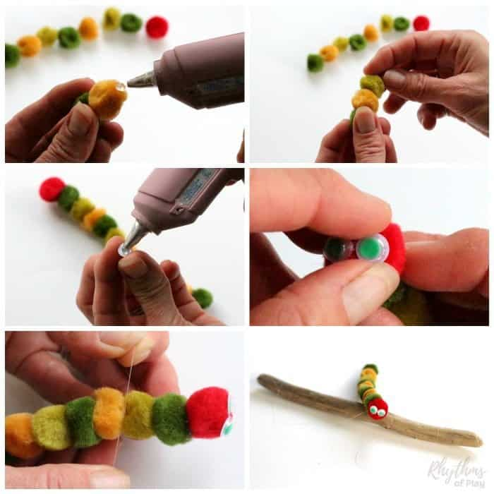 Very Hungry Caterpillar Puppet Step by Step Photo Tutorial