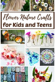 Real Flower Nature Crafts for Kids and Teens