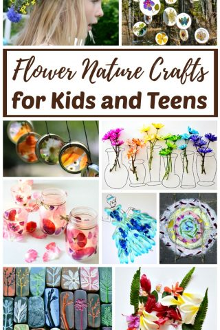Flower Nature Crafts for Kids and Teens