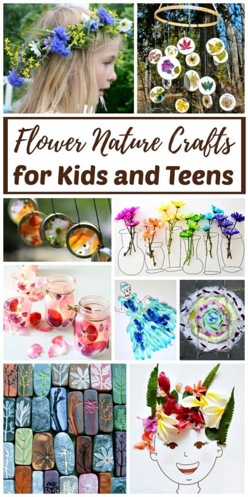 real flower nature crafts for kids