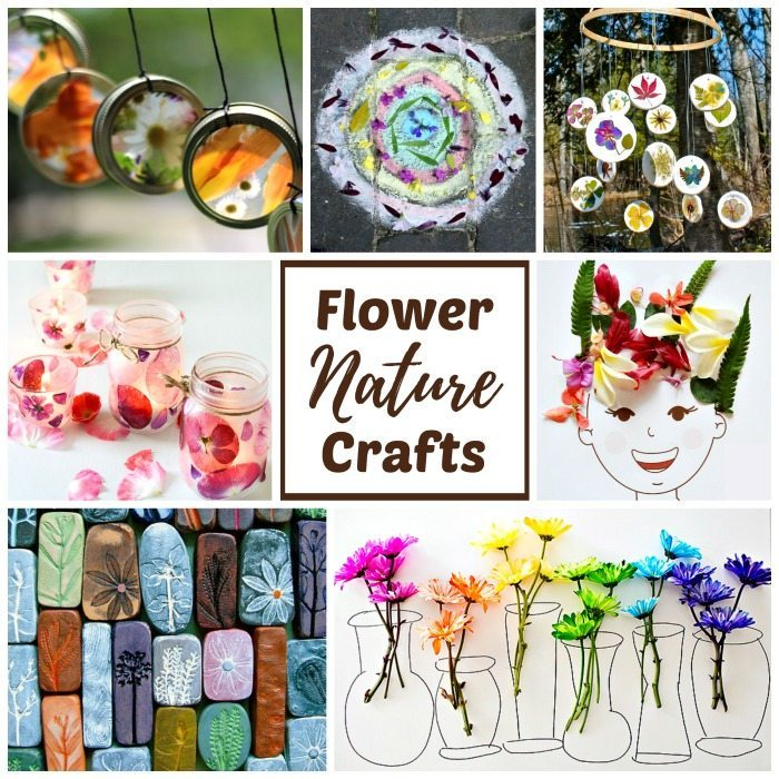 Real flower nature crafts