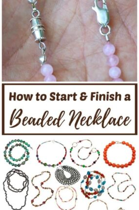 How to start and finish a beaded necklace or bracelet
