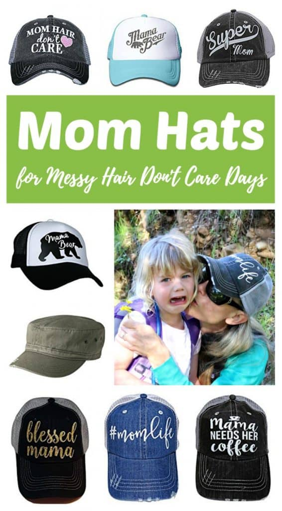 Mother's Day Gift Ideas -- A fun collection of mom hats for messy hair don't care days. Which one is perfect for your mom? Click through to find a cheap and easy unique gift idea to buy for the amazing supermom in your life!
