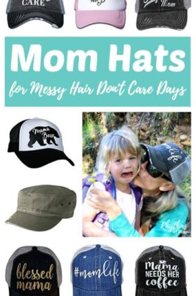 Mother's Day Gift Ideas -- A fun collection of mom hats for messy hair don't care days. Which one is perfect for your mom? Click through tofind a cheap and easy unique gift idea to buy for the amazing supermom in your life!
