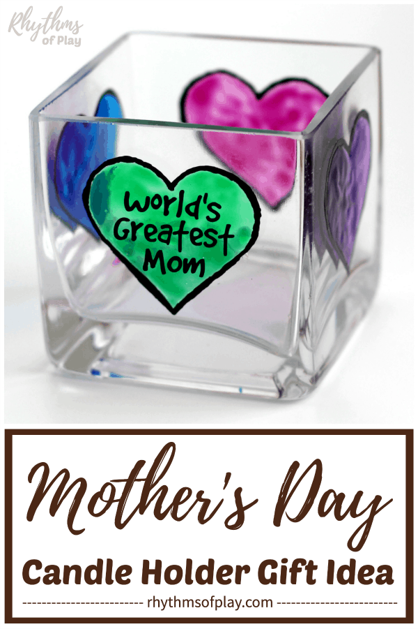 Mother's day gift ideas diy personalized candle holders
