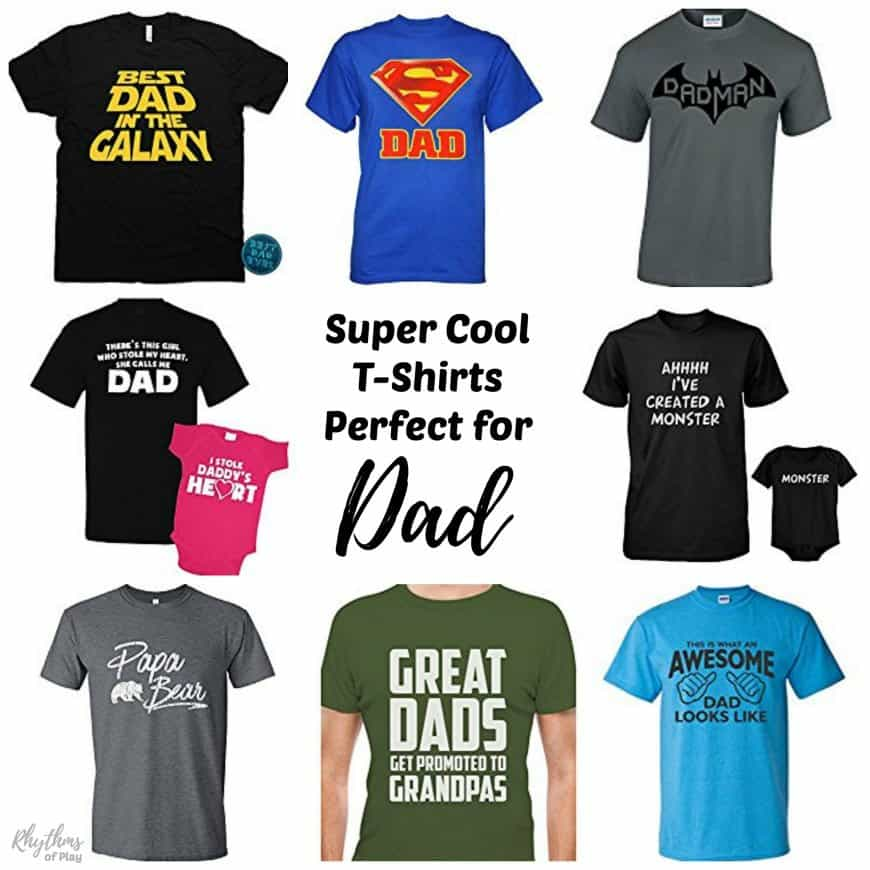 Start a Father's Day gift giving tradition in your family this year with any of these awesome gift ideas! Give dad one of these super cool t-shirts perfect for dad. Which t-shirt is perfect for your dad?