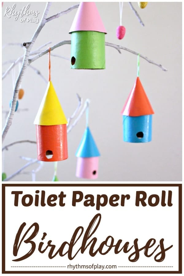 easy birdhouse craft for kids and adults