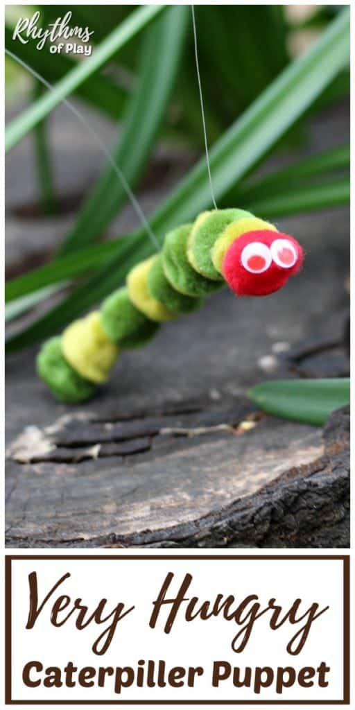 the very hungry caterpillar puppet DIY toy