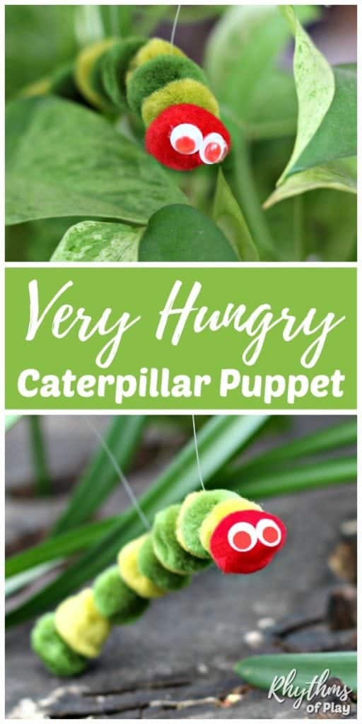 Very Hungry Caterpillar Craft and DIY Toy Puppet for kids