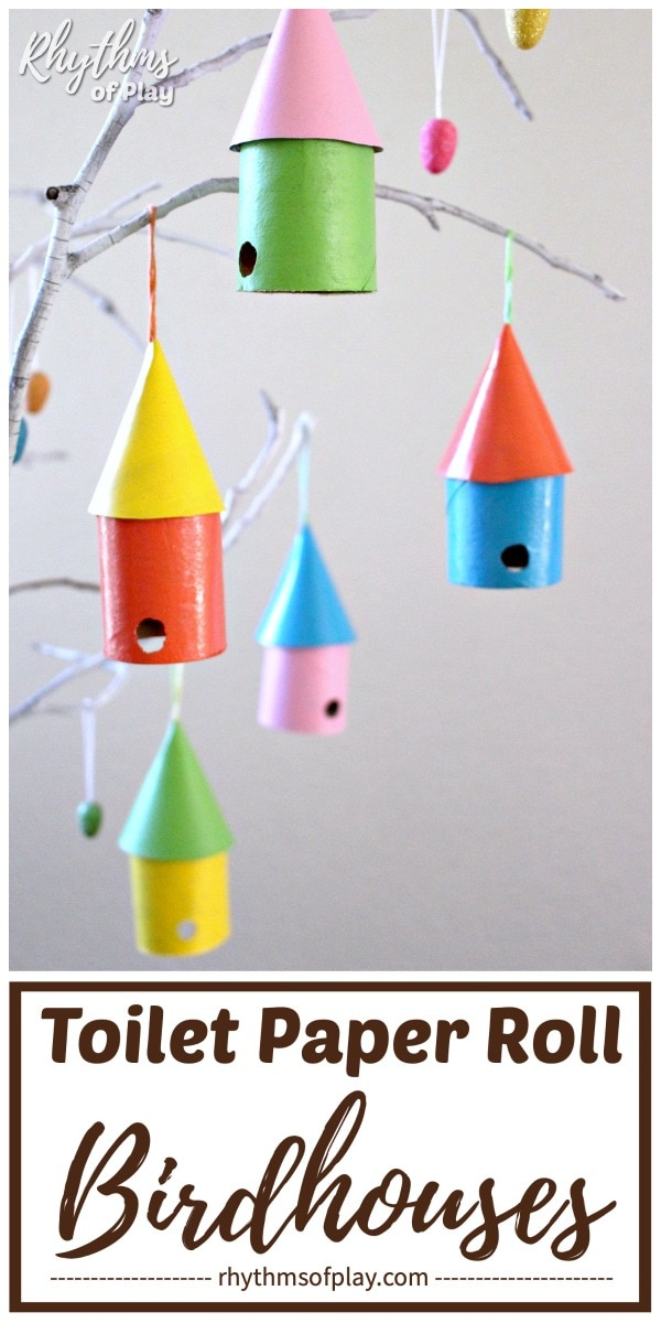 recycled birdhouse craft for kids and adults