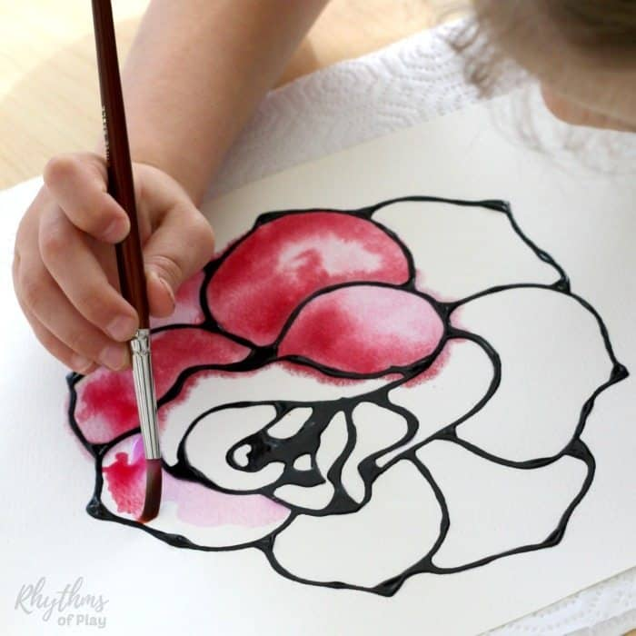 easy rose watercolor art