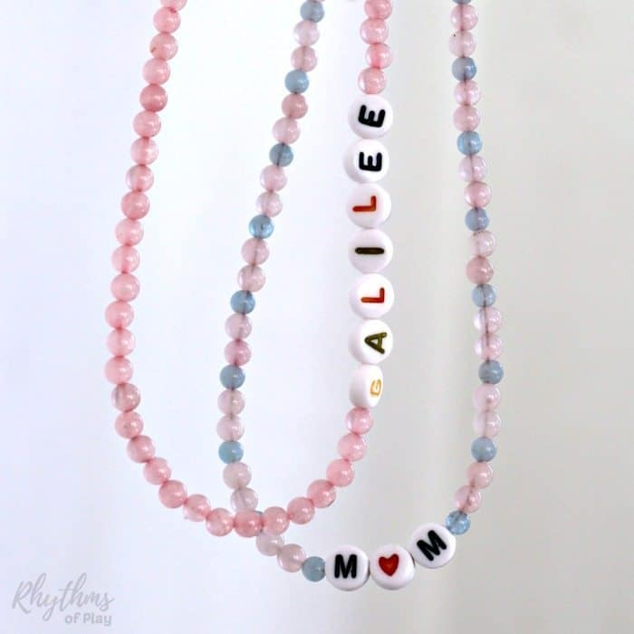 DIY Mother-Daughter necklace children can make