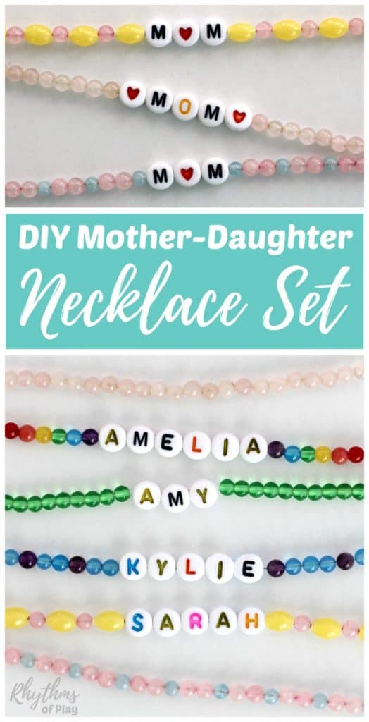 DIY Mother-Daughter necklace or bracelet gift set