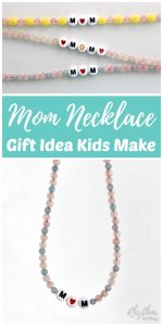 DIY Mom Necklace Gift Idea Kids Can Make