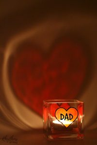 DIY Father's Day Gift Idea - Dads and grandpas love homemade personalized keepsake gifts for Father's Day!Creating gorgeous stained glass hearts on square votive candle holders and personalizing them for daddy or papa is fun and easy for both kids and adults. Anyone that can draw or trace can do this easy handmade craft project.
