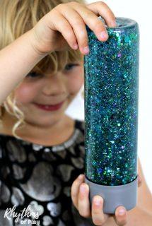 Glittering Mermaid Tail Sensory Bottle