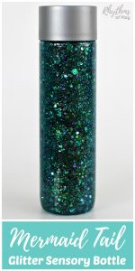 Glittering Mermaid Tail Sensory Bottle