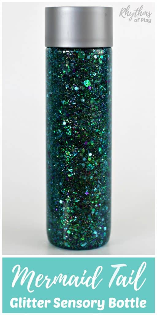 mermaid tail sensory bottle