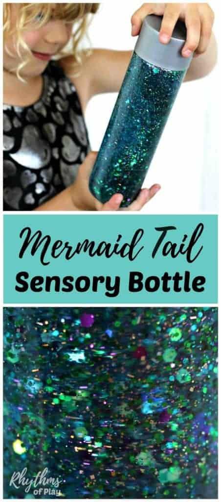 mermaid tal sensory bottle