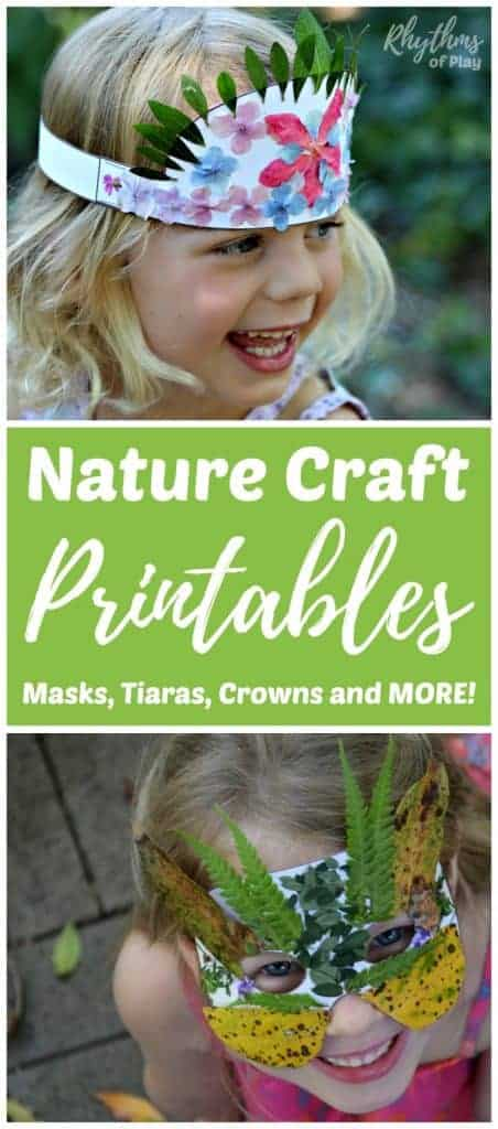 Nature Craft Printables Masks Tiaras Crowns And More