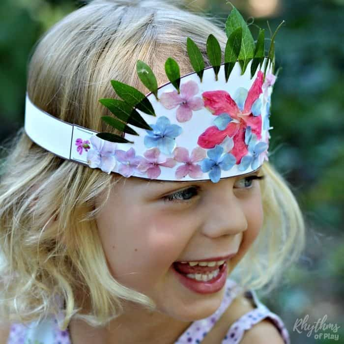 Nature Masks Tiaras Crowns and More! Kids will love how easy it is to create nature arts and crafts with these fun printables. Get outside, explore nature, engage the senses, and use the fine motor muscles to create wearable art. A hands-on learning punch hard to beat!